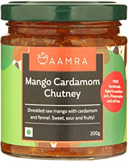 Aamra (Ghaziabad) Homemade Mango & Cardamom Indian Chutney - 200 grams