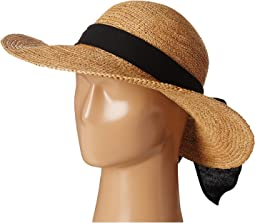 Big Brim Raffia with Linen Bow