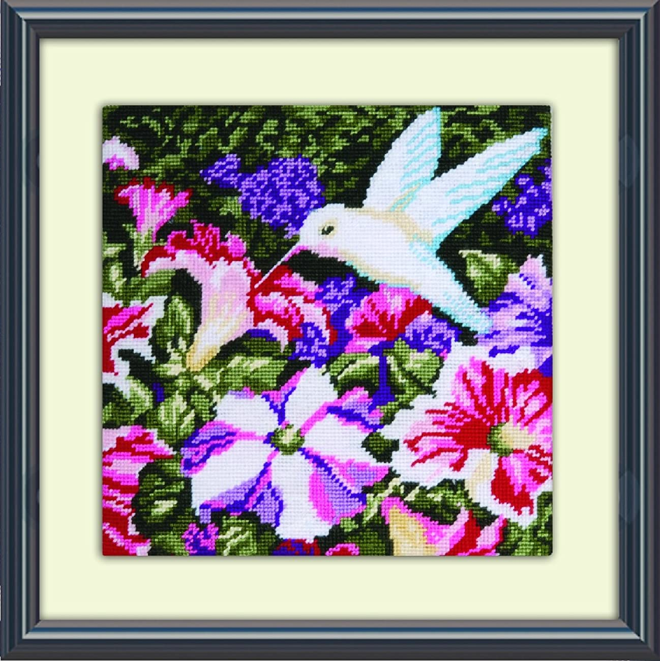 Tobin DW2520 Needlepoint Kit, 10 by 10-Inch, Hummingbirds