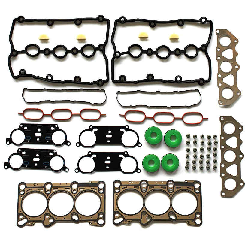 ECCPP Replacement for Engine Cylinder Head Gasket Set for 02-06 Audi A4 A4 Quattro A6 A6 Quattro 3.0L V6 DOHC Engine Head Gaskets Kit