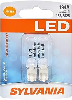 SYLVANIA - 194 T10 W5W LED Amber Mini Bulb - Bright LED Bulb, Ideal for Interior Lighting (Contains 2 Bulbs)