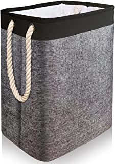 Gladpaws Laundry Hampers, 65L Collapsible Linen Dirty Clothes Laundry Basket with Handles Built-in Lining with Detachable ...
