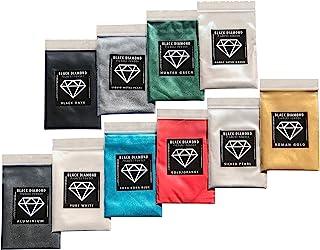 Variety Pack 2 (10 Colors) Mica Powder Pure, 2TONE Series Variety Pigment Packs (Epoxy,Paint,Color,Art) Black Diamond Pigments