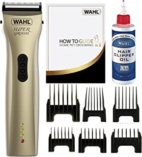 Wahl Dog Cat Clippers, Supergroom Premium Dog Cat Grooming Kit, For All Coat Types, Low Noise Cordless, Pets At Home, 100 ...