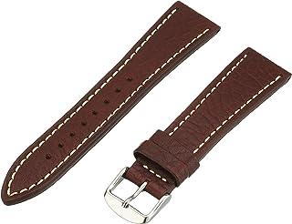 Hadley-Roma Men`s MSM894RA-180 18-mm Black Genuine Leather Watch Strap