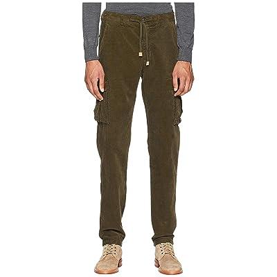 eleventy Cord Cargo Jogger Pants (Military) Men