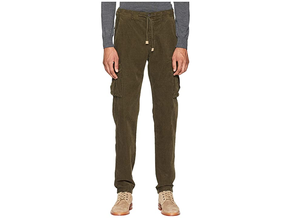 eleventy Cord Cargo Jogger Pants (Military) Men