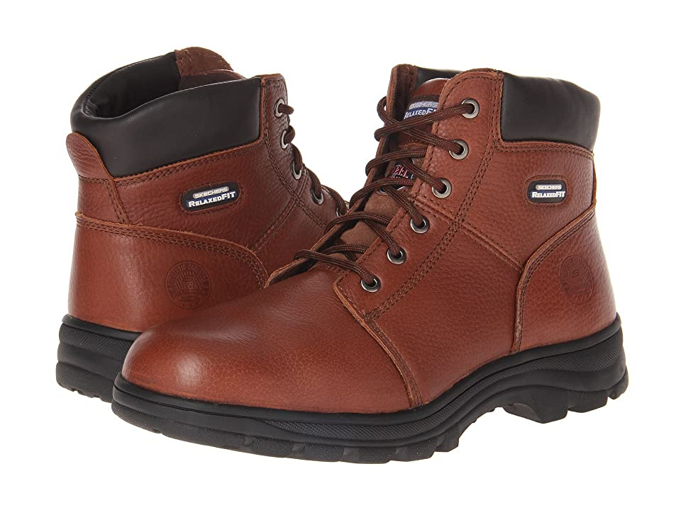 SKECHERS Work Workshire Relaxed Fit (Brown) Men