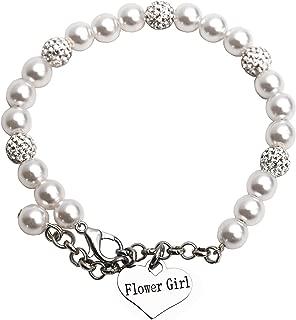 LParkin Flower Girl Bracelet Flowergirl Pearl Bracelet Flowergirl Gift Jewelry