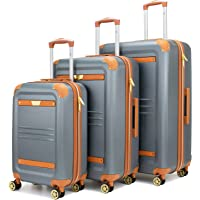 19V69 Italia Vintage 3-Piece Expandable Hard Spinner Luggage Set