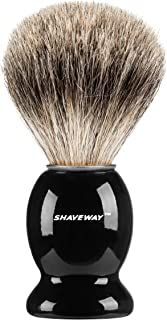 Shaveway 100% Pure Badger Shaving Brush Engineered to Deliver The Best Shave of Your Life. No Matter What Method You use, Safety Razor, Double Edge Razor, Staight Razor or Shaving Razor. …