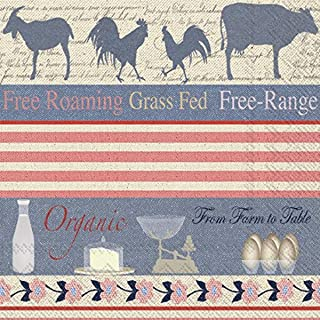 Celebrate the Home Debbie Taylor-Kerman 3-Ply Paper Luncheon Napkins, Farm to Table, 20 Count