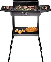 Elektrische grill, 2.000 watt, thermostaat, traploze temperatuurregelaar, tafelgrill, staande grill, partygrill, elektrisc...