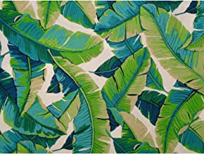 DCG Stores Balmoral Futon Cover Twin Size, Proudly Made in USA (Hawaiian Theme, Tropical Island, Banana Leaf Print, Available in Full, Queen, Twin and Other Sizes)