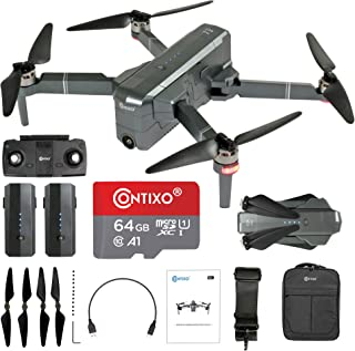 Contixo Quadcopter GPS Foldable 4K HD Camera Drones - 60 Minutes Longest Flight Time - Brushless Motors Drone with Camera ...