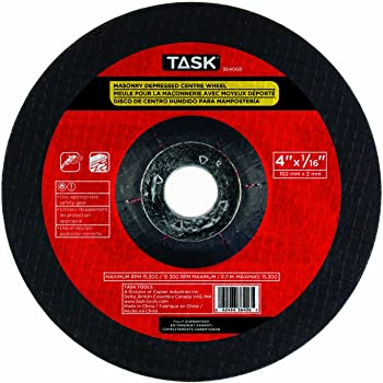 Task Tools 33708B 7-Inch by 1//8-Inch Masonry Cutting Wheel with Depressed Center LCM Team Task Tools