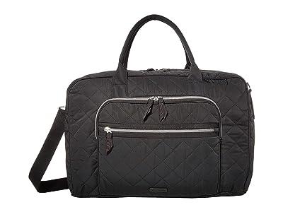Vera Bradley Iconic Lay Flat Bag (Black) Bags