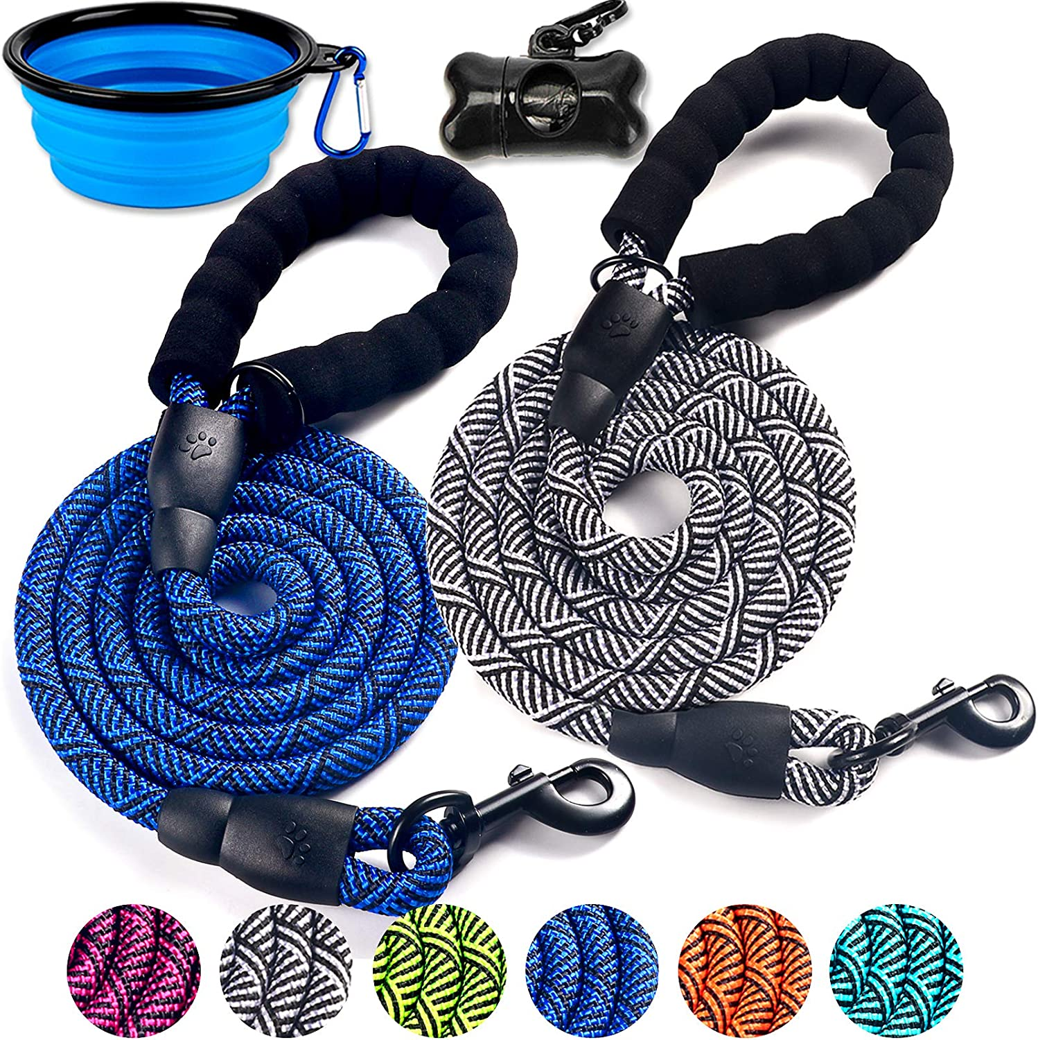 DOYOO 2 Pack Challenge the lowest price Dog Outlet sale feature Leash 6 FT Nylon Thick Rope - Comfortab Durable
