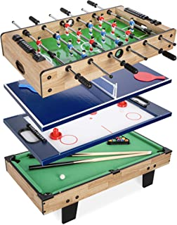 Best Choice Products 4-in-1 Multi Game Table, Childrens Combination Arcade Set for Home, Play Room, Rec Room w/Pool Billia...