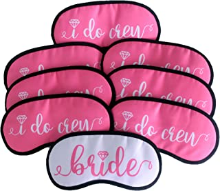 Bride and Bridesmaids Sleep Mask Gift Set : Set of 8 - Bachelorette Party Supplies, Favors, Decorations, Bride Tribe, Bachelorette Party Gifts, Bachelorette Party Accessories, Bride to be Party Pack