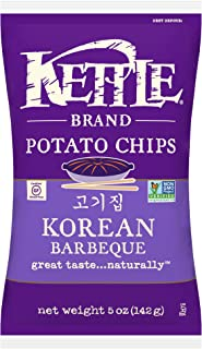 Kettle Brand Potato Chips, Korean Barbeque, 5 Ounce (Pack of 15)