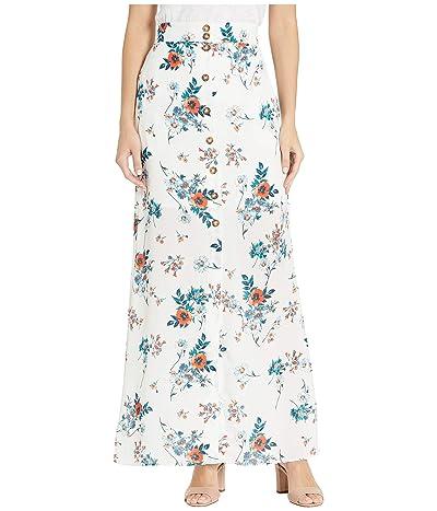 Socialite Florence Skirt (Ivory/Orange Floral) Women