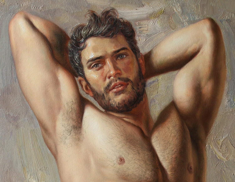Art Prints Unique male nude morden Trans Canvas Painting artwork 豊富な品 人気商品