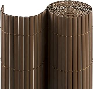 jarolift Estera de PVC para jardín, balcón y terraza, 100 x 300 cm, marrón