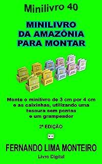 MINILIVRO DA AMAZÔNIA PARA MONTAR: Monte o minilivro de 3cm por 4 cm e as caixinhas, utilizando uma tesoura sem pontas e u...