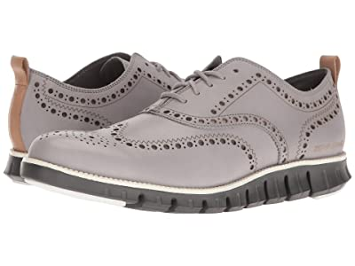 Cole Haan ZeroGrand Wing Ox Leather (Silver Sconce Leather/Magnet) Men