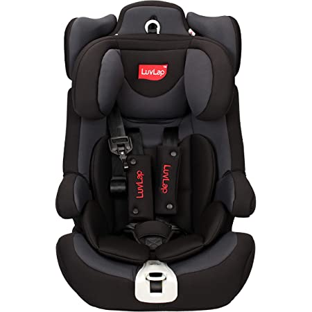 LuvLap Active, ISOFIX Car Seat for baby & kids from 9 Months to 12 Years (upto 36 Kgs) (Grey & Black)