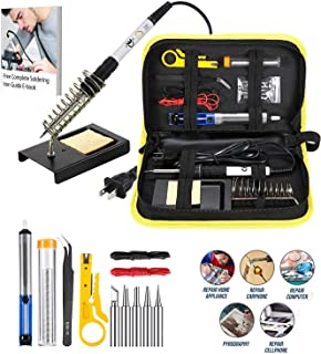 Magentos Superb Quality Soldering Iron - 14 Extra Pieces for Easy & Safe Use at Work