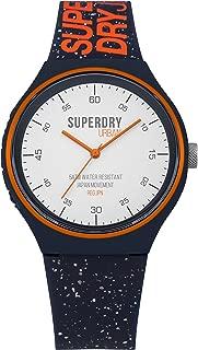 Superdry 'Urban XL Fleck' Quartz Plastic and Silicone Casual Watch, Color:Blue (Model: SYG227U)