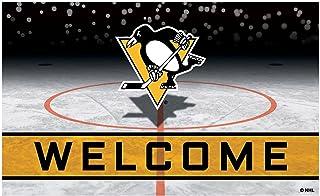 FANMATS 21284 Team Color Crumb Rubber Pittsburgh Penguins Door Mat, 1 Pack