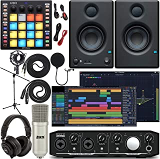Mackie Onyx Producer 2-2 Audio/Midi interface with Pro Tools First Software, ATOM Midi Production Pad Controller, Eris 3.5...