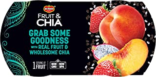 Del Monte Fruit & Chia Snack Cups, Peaches in Strawberry Dragon Fruit Flavored Chia, 2 Count (Pack of 1)