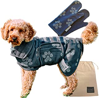 Sponsored Ad - Obi & Willow Dog Drying Towel Coat, Dog Bathrobe Super Absorbent to Dry Your Pet Fast, Plus 2 Drying Mitts ...