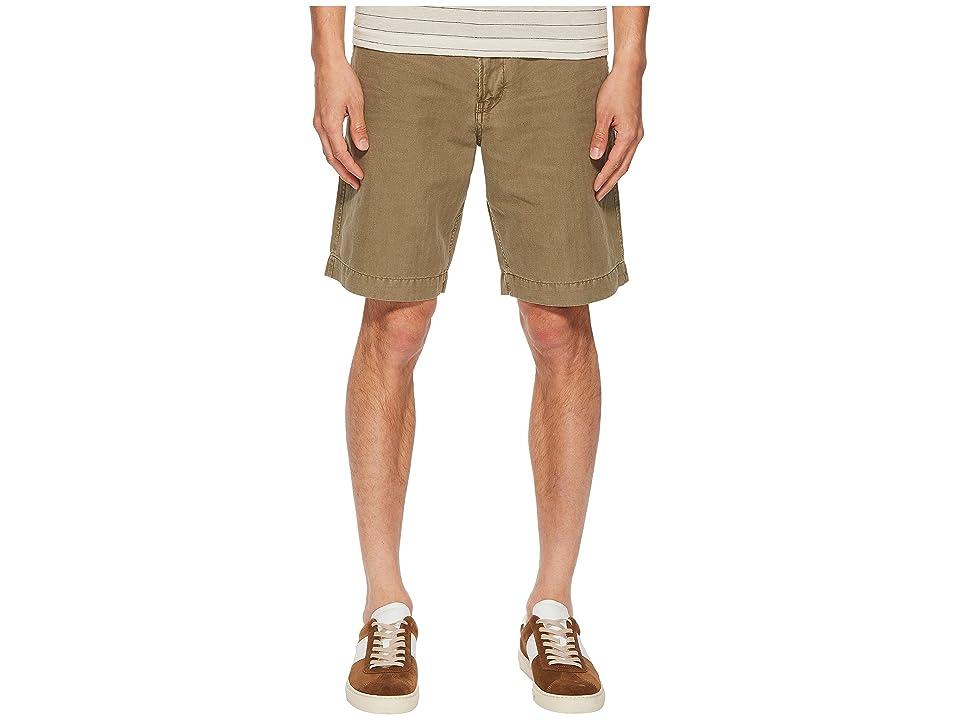 Image of Billy Reid Clyde Linen Shorts (Caper) Men's Shorts