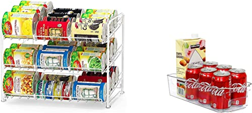 high quality Simple Houseware Stackable Can outlet sale Rack Organizer + Kitchen Bin sale Organizer outlet sale