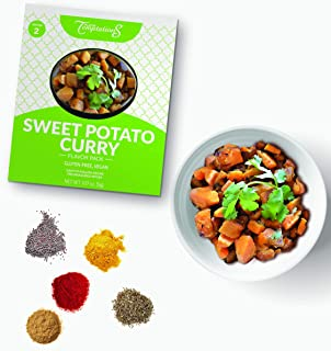 SWEET POTATO CURRY INDIAN FOOD SPICES by Flavor Temptations. Home Cook Masala Dish with Beginner Seasoning Set. VEGAN, Glu...