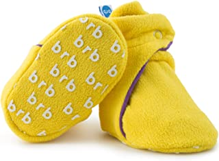 Fleece Baby Booties - Organic Cotton & Gripper Bottoms, Cozy Boys & Girls Bootie