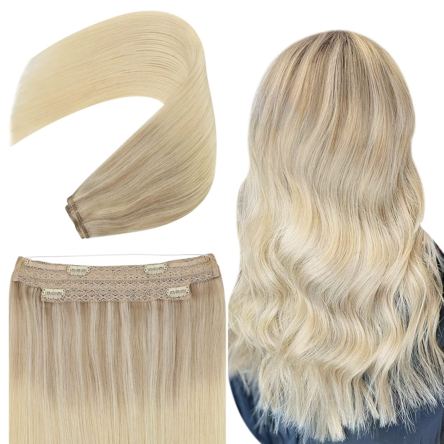 YoungSee New product! New type Blonde Wire Hair 18inch Real Human Import Extensions