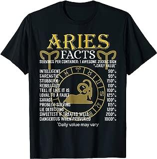 Aries Facts Zodiac Sign T-Shirt