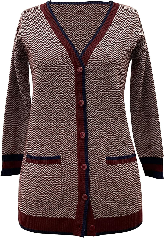 Women's Wool Cardigan Long Cardigan Long Sleeves Button cardigant V-Neck Elegant Comfort P141
