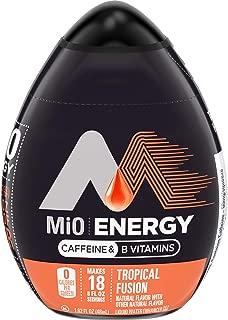 MiO Energy Tropical Fusion Liquid Water Enhancer, Caffeinated, 1.62 fl oz Bottle , Pack of 12