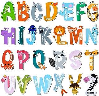 Avamie Animal Alphabet Letters Magnets for Kids, Jumbo ABC Alphabet Letters Fridge Magnets, Large Animal Alphabet Refriger...