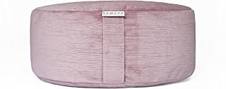 SAMAYA Meditation Cushion | Velvet Floor Pillow Zafu | Buckwheat Millet Filling | Designer Home | Made in USA