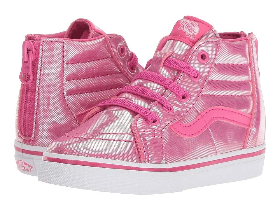 Vans Kids Sk8-Hi Zip (Infant/Toddler) ((Holo Hearts) Magenta/True White) Girls Shoes