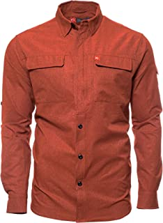 American Outdoorsman Long-Sleeve Green River Quick Dry Breathable Fishing Guide Shirt