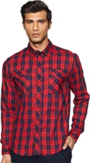 Colt Men's Checkered Slim fit Casual Shirt
